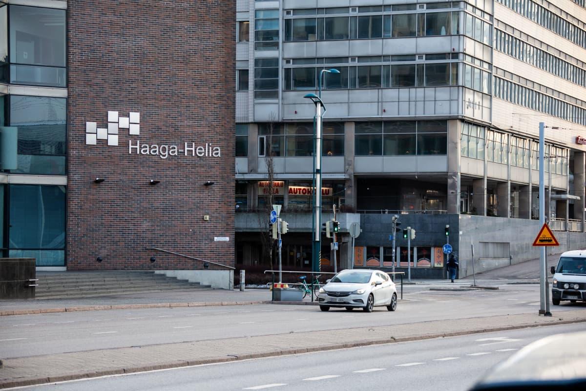 Ammattikorkeakoulu Haaga-Helia Helsingin Pasilassa jouluussa 2019.