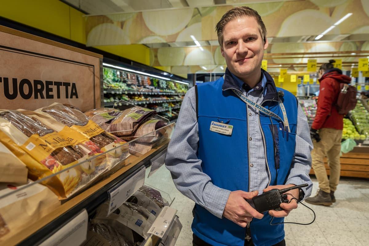 Janne Lahti, myymäläpäällikkö S-market Arabia, Helsinki