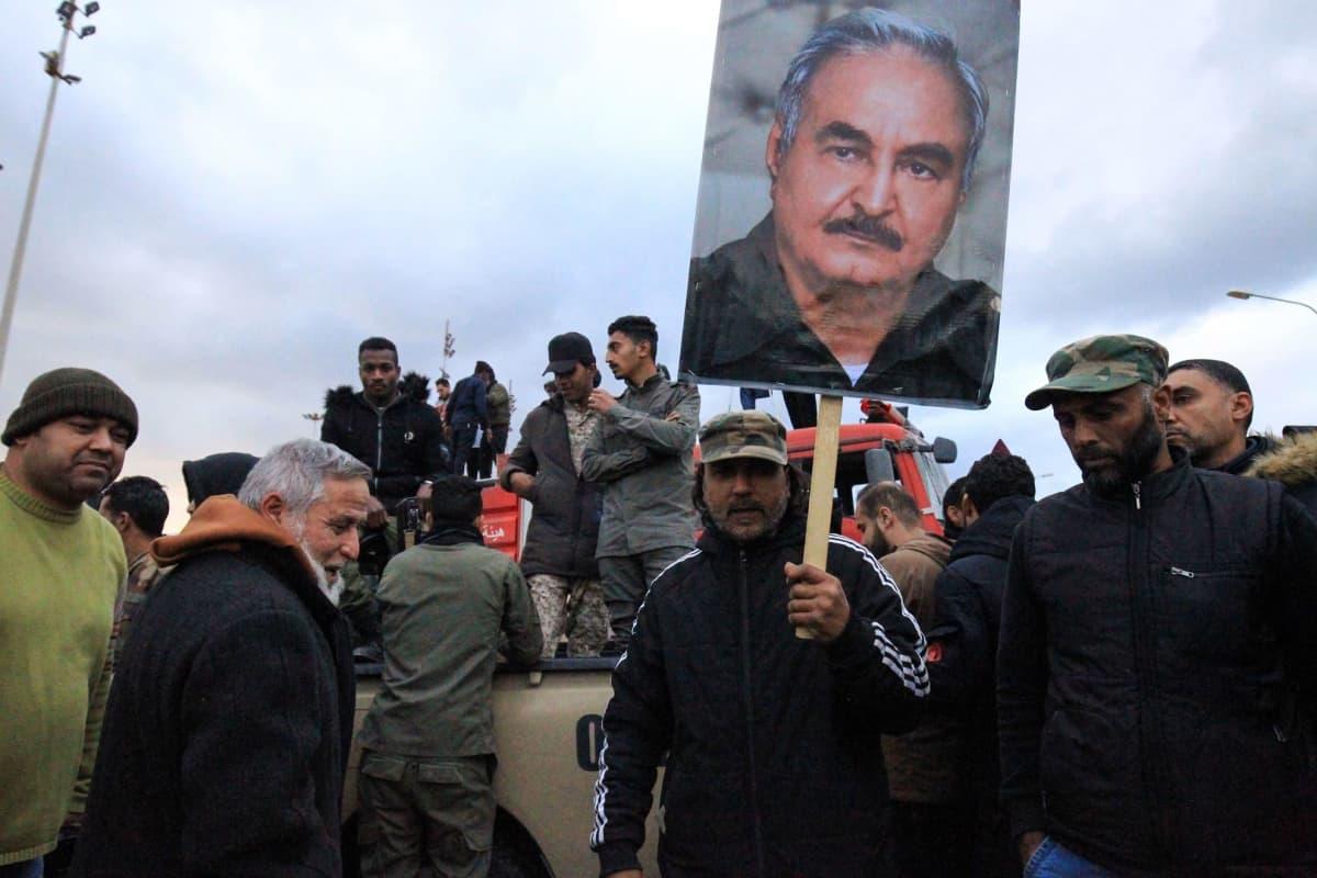 Libyan itäosissa sijaitseva Benghazi on kenraali Khalifa Haftarin vahvaa tukialuetta. Kaupungissa järjestettiin tammikuussa Turkkia vastustava mielenosoitus.