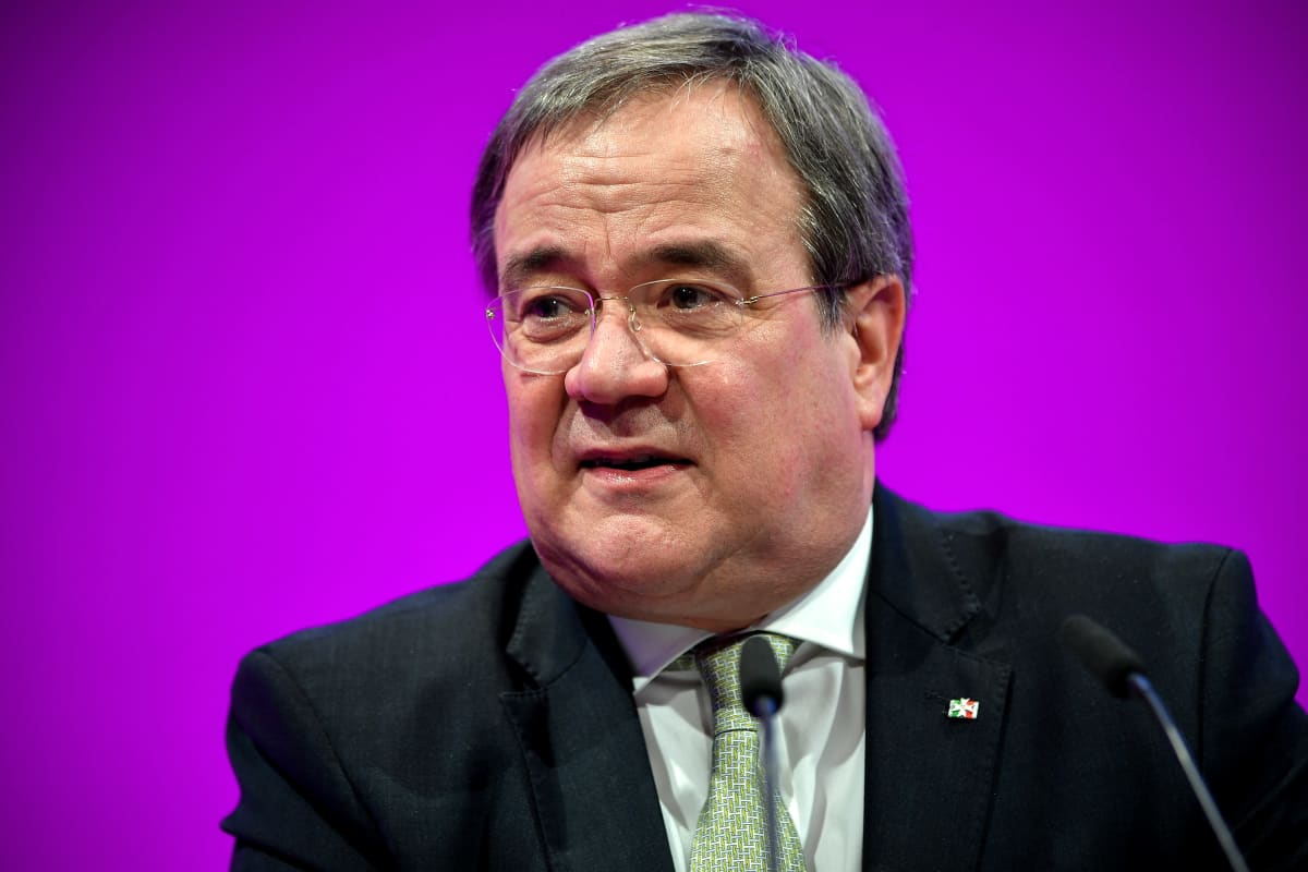 Nordrhein-Westfalenin osavaltion pääministeri  Armin Laschet