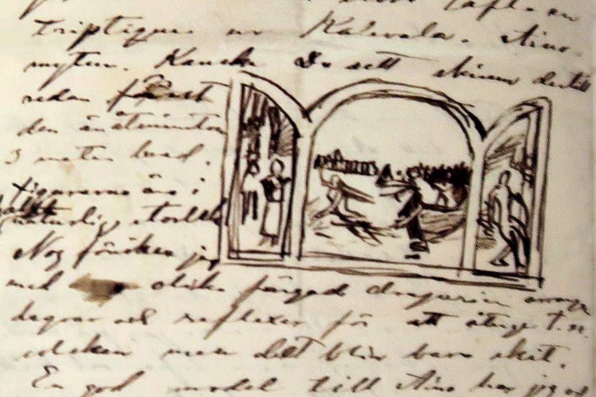 Aino-triptyykin aihio Akseli Gallen-Kallelan kirjeessä
