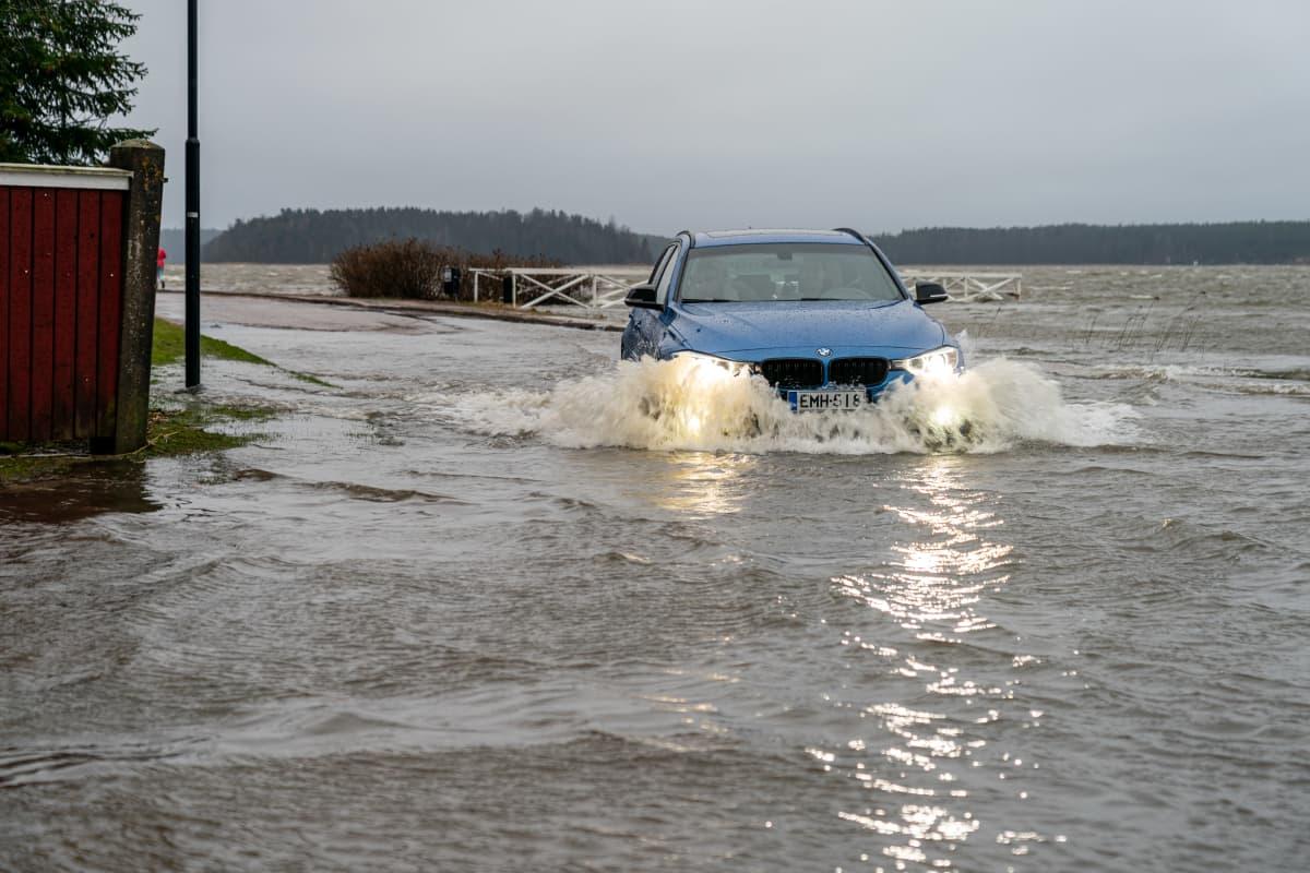 Tulva Tammisaaressa.