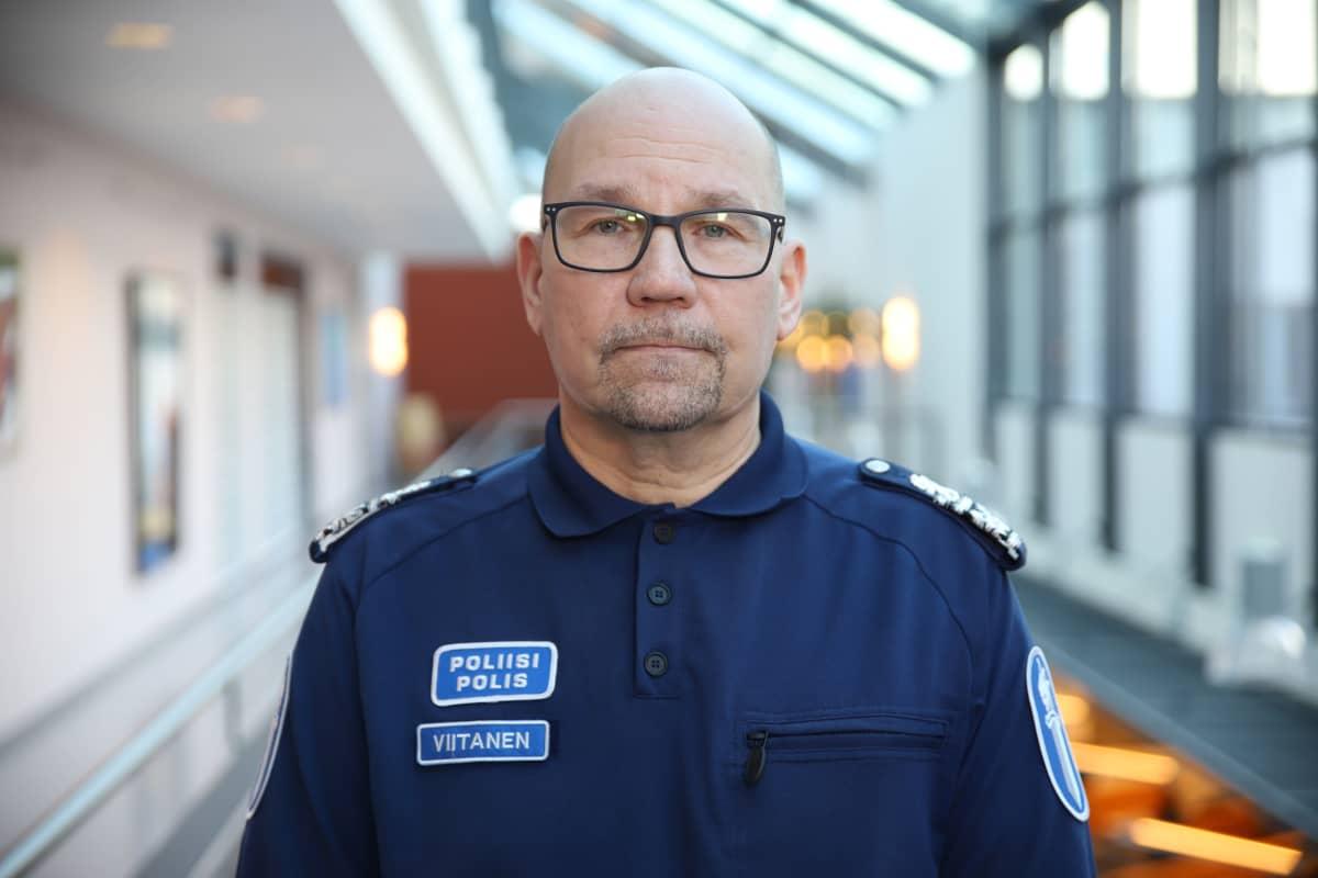 Kaakkois-Suomen poliisilaitoksen päällikkö Marko Viitanen.