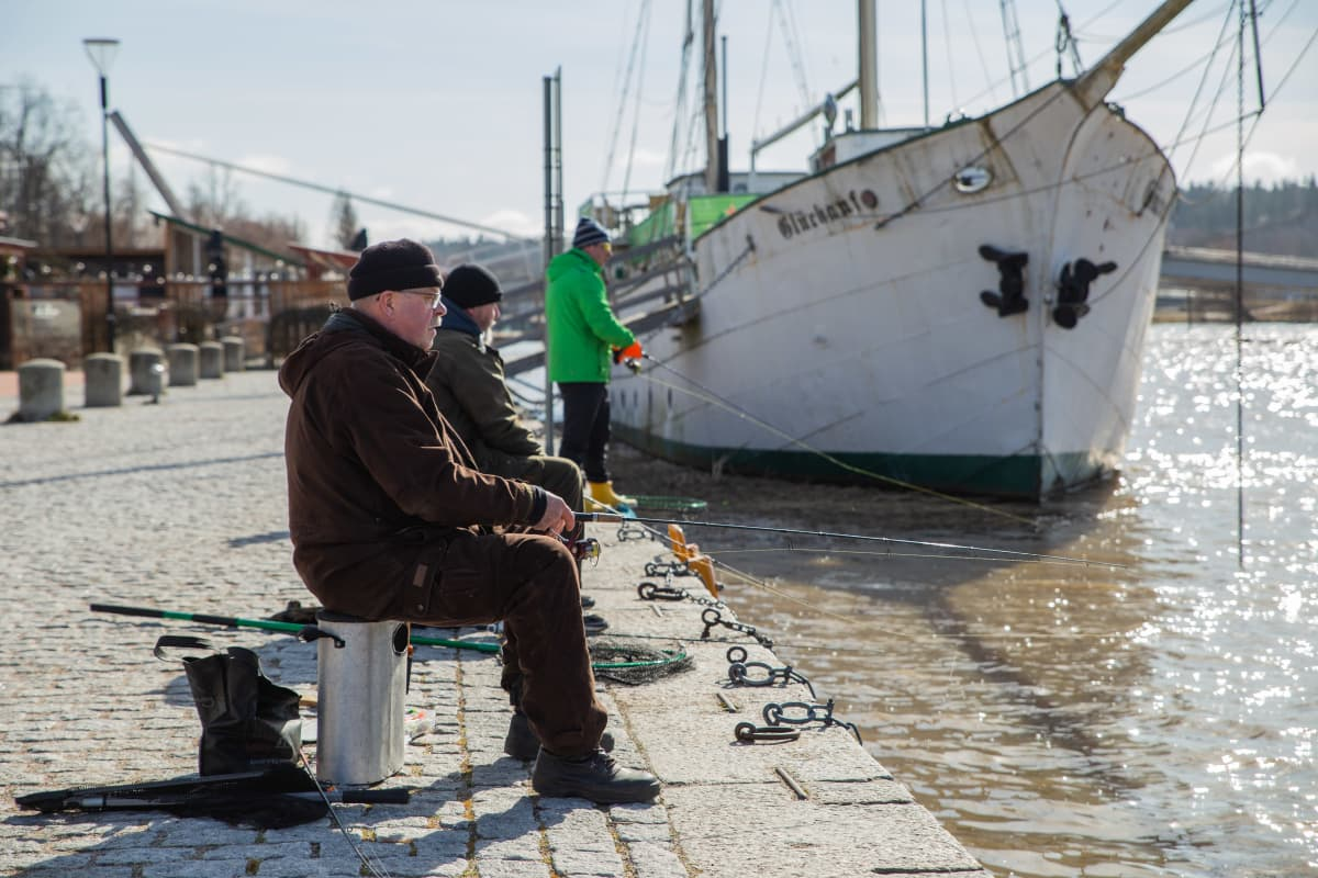 kalastajia porvoonjoki. turvaetäisyys