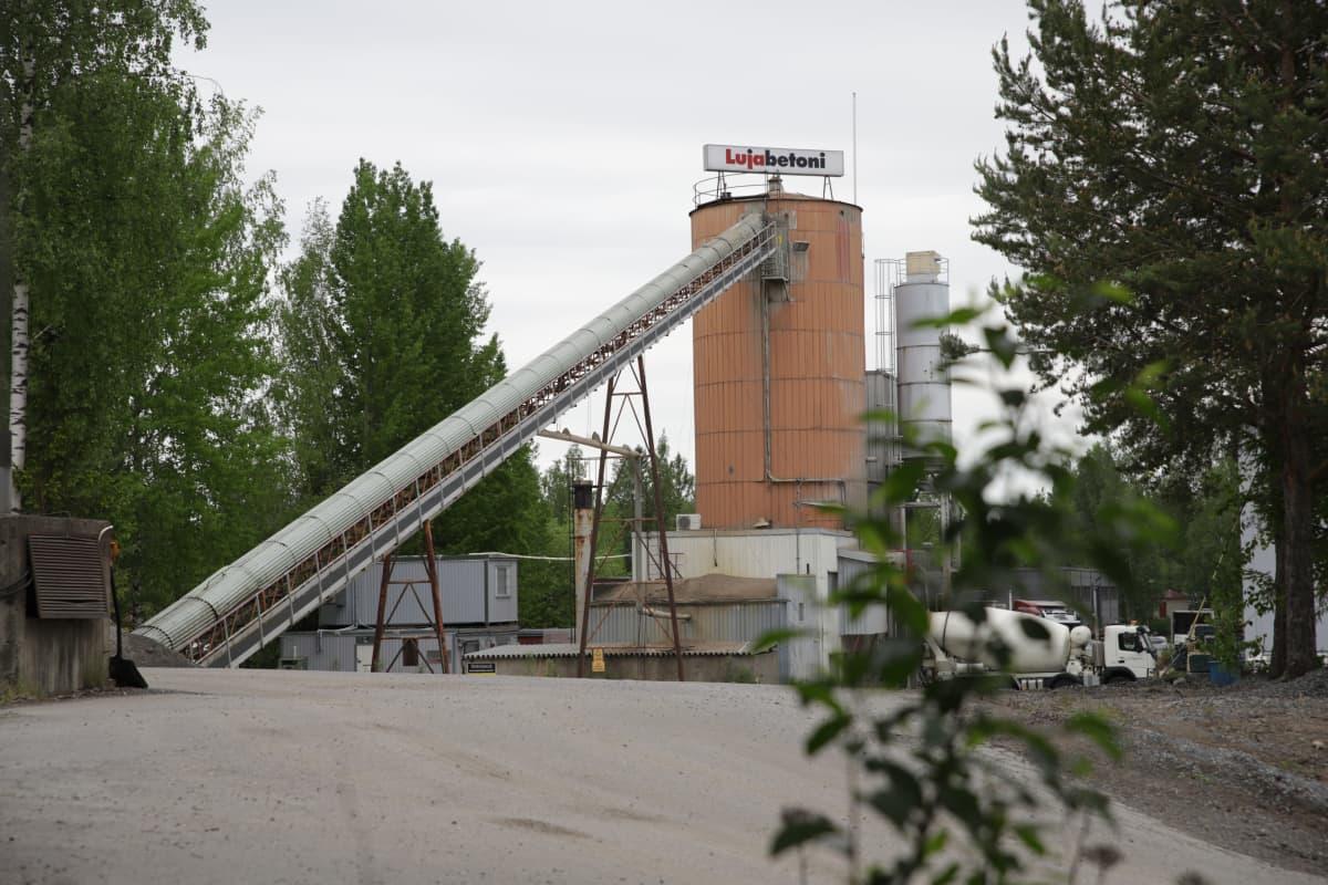 Lujabetonin tehdas Kuopiossa.
