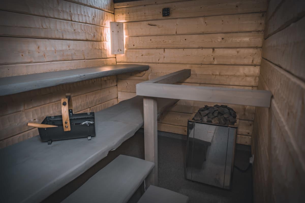Kankaan sauna.