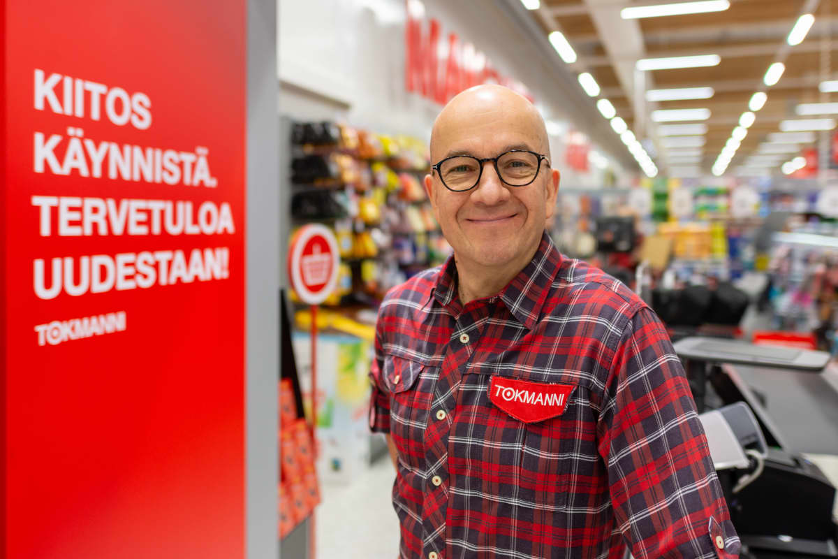 Tokmannin toimitusjohtaja Mika Rautiainen.