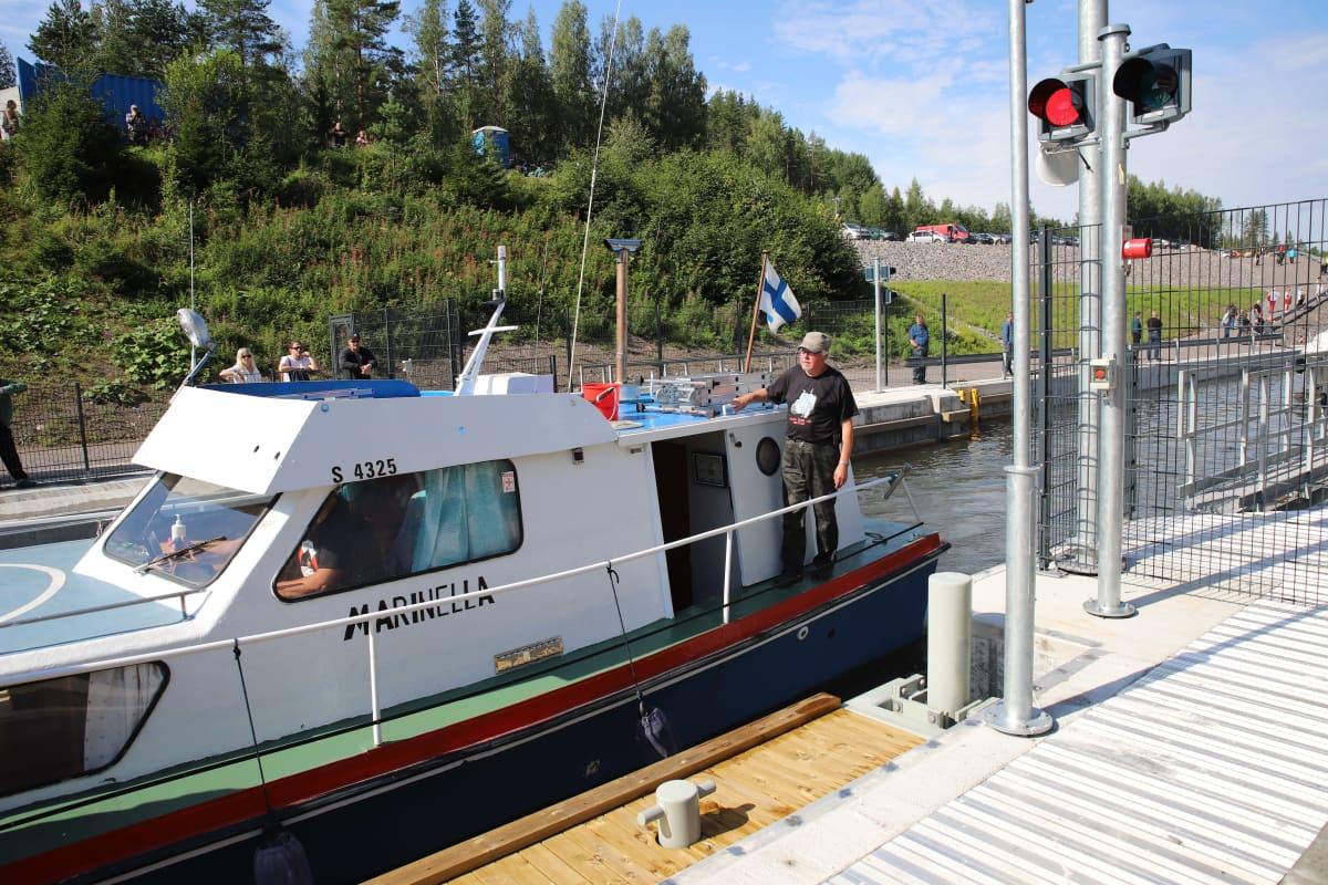 Kimolan kanavassa veneitä 3. elokuuta 2020.