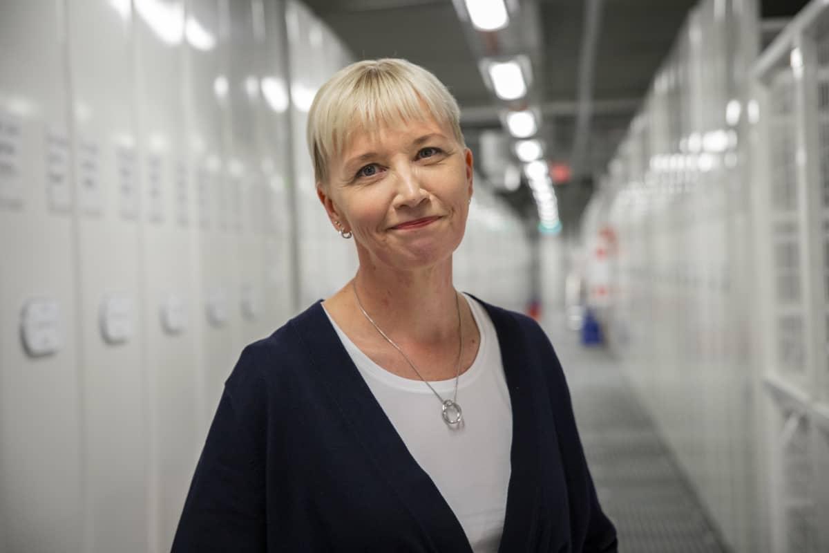 Johanna Vesterinen, kirjastonjohtaja, varastokirjasto