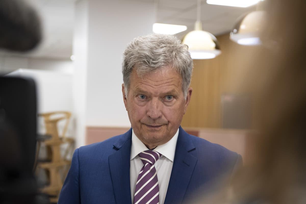 Presidentti Sauli Niinistö Ykksöaamun vieraana 22.08.2020