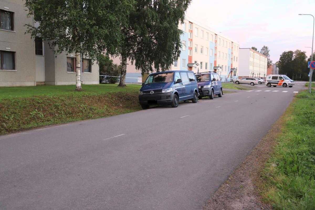 Poliisin kuva tapahtumapaikalta Aarnintie