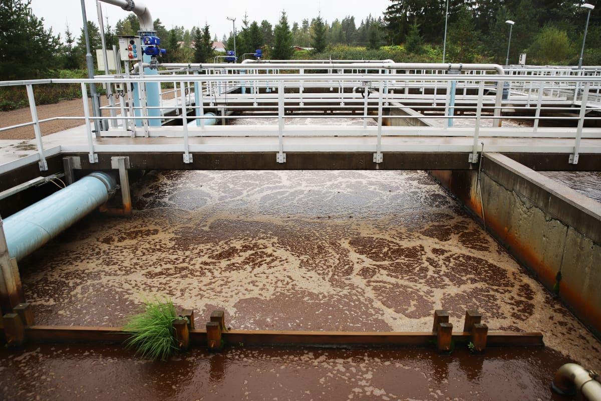 Mäkikylän jätevedenpuhdistamo Kouvolassa.