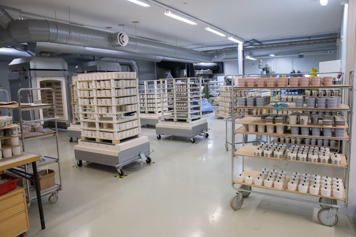 Vaja Finland Oy:n tuotantotiloja.