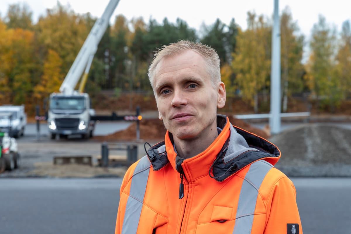 JUHA LEPPÄNEN, työmaapäällikkö, Tampereen infra