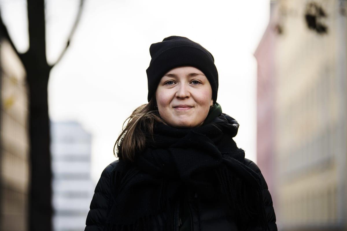 Kuvassa Helsingissä Sörnäisissä kuvattu Tuuli Wallenius 29. lokakuuta 2020.