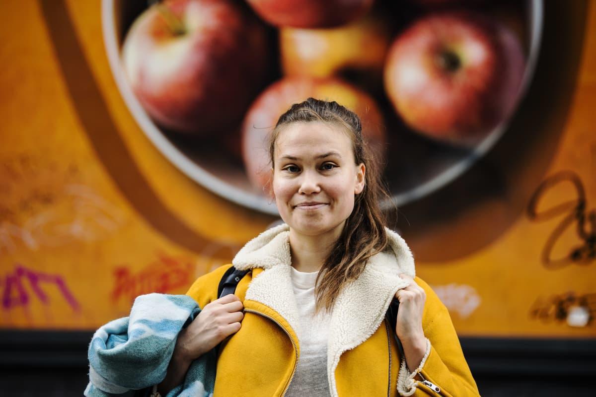 Kuvassa Helsingissä Sörnäisissä kuvattu Reetta-Stiina Rannanmäki 29. lokakuuta 2020.