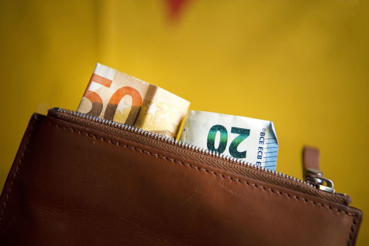 Seteleitä lompakossa.