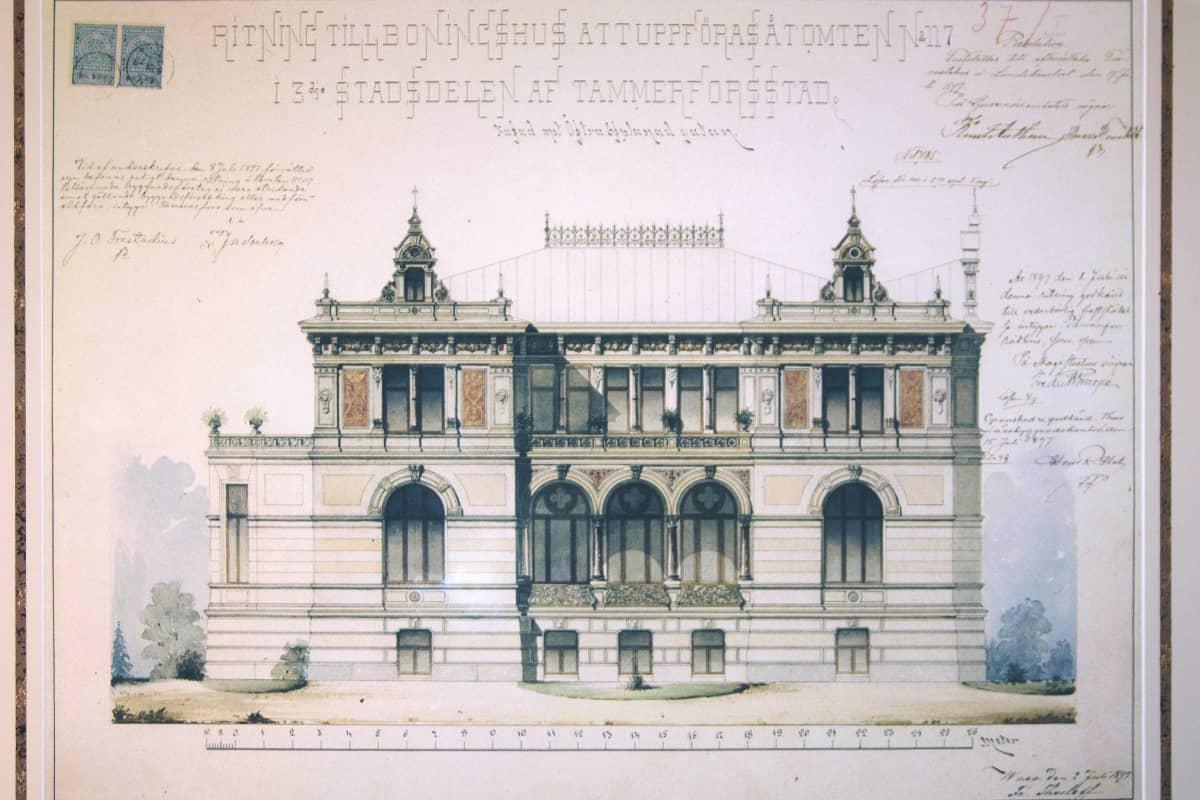 Pikkupalatsin rakennuspiirustus