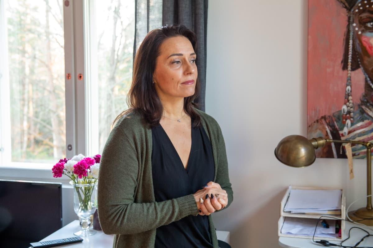 Kouluväkivaltatyön koordinaattori Ira-Maria Gordin Kirkkonummella..