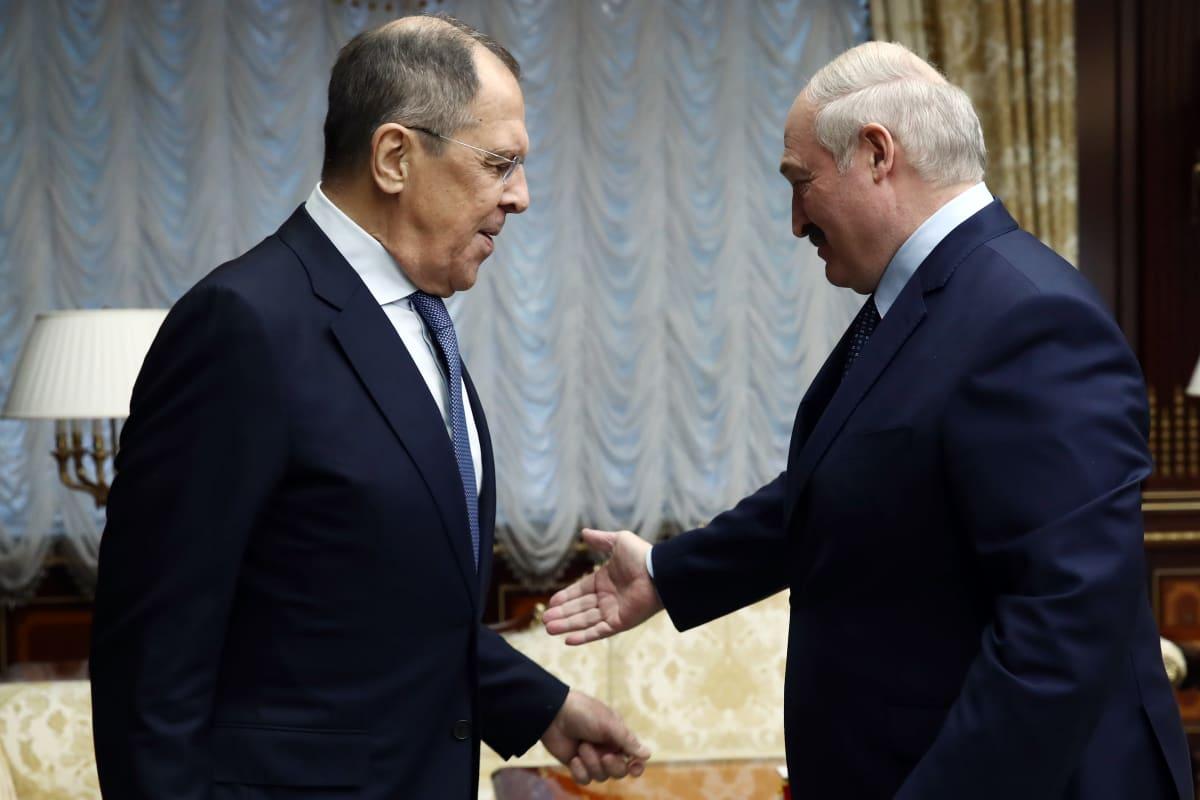 Sergei Lavrov and Aljaksandr Lukašenka