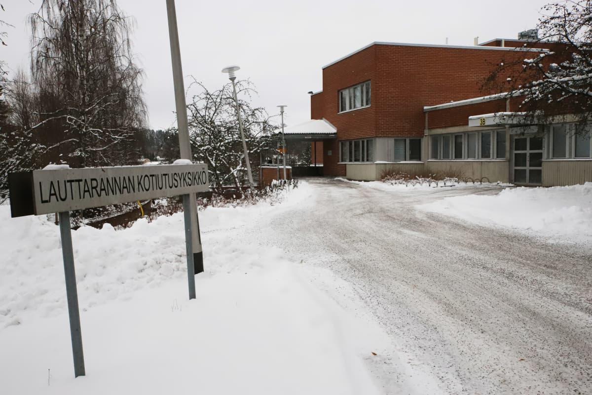 Lauttarannan kotiutusyksikkö Kuusankoskella.