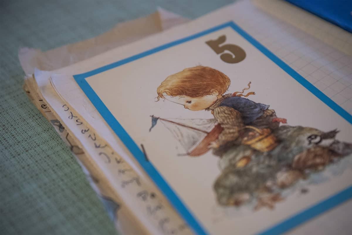 5-vuotissyntymäpäiväkortti