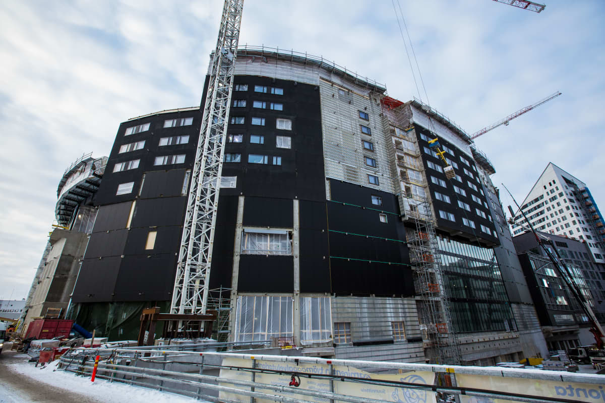 Tampereen areena tammikuussa 2021.