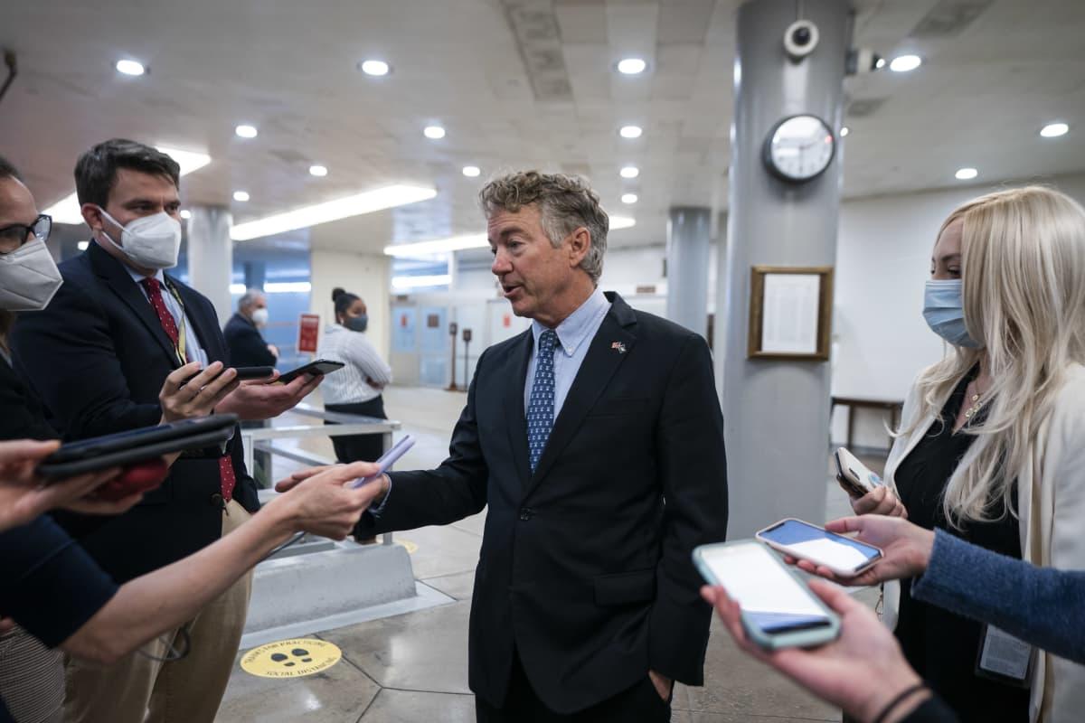 Rand Paul puhui lehdistölle