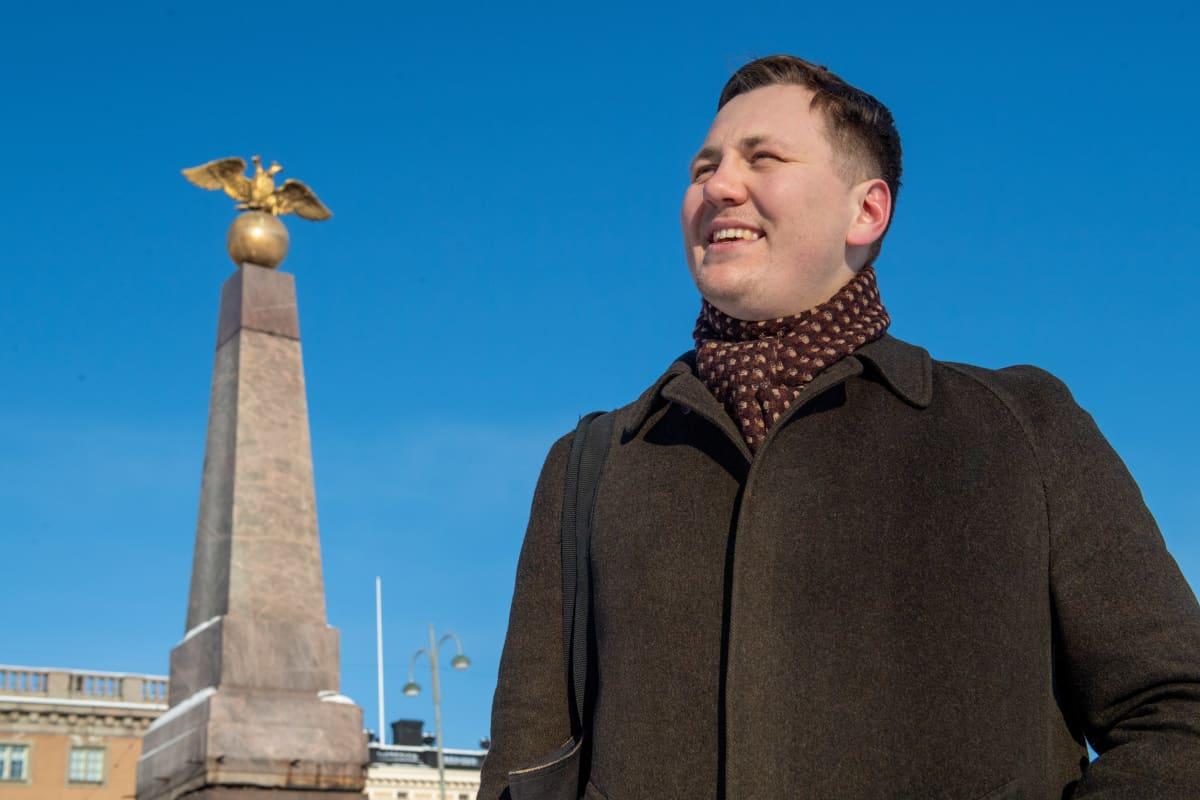 Venäjän historian opiskelija Pavel Petrov.
