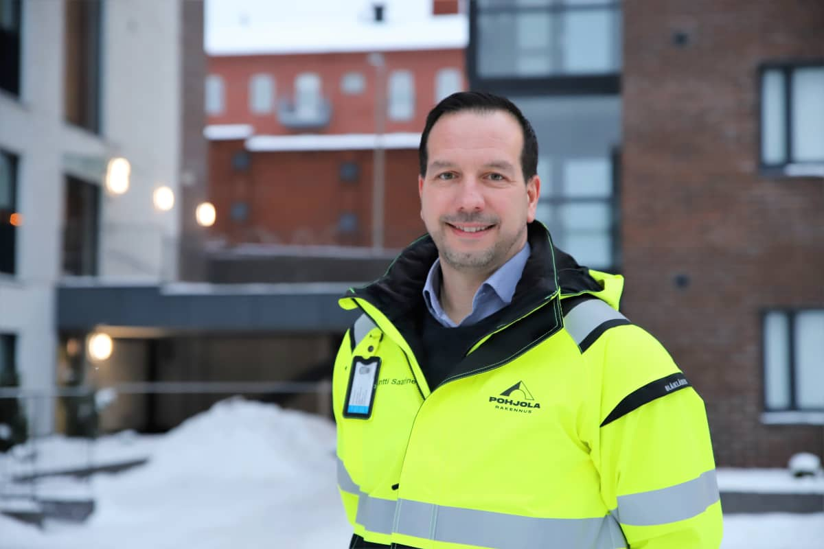 Antti Saarinen hankejohtaja Pohjola rakennus Oy Suomi