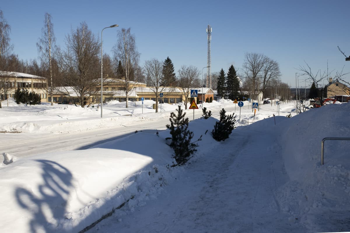 Joroisen kylänraitti talvella 2021.