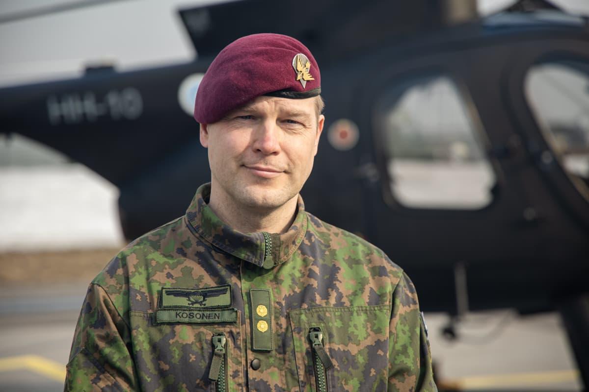 Everstiluutnantti Jussi Kosonen, Utin jääkärirykmentin esikuntapäällikkö