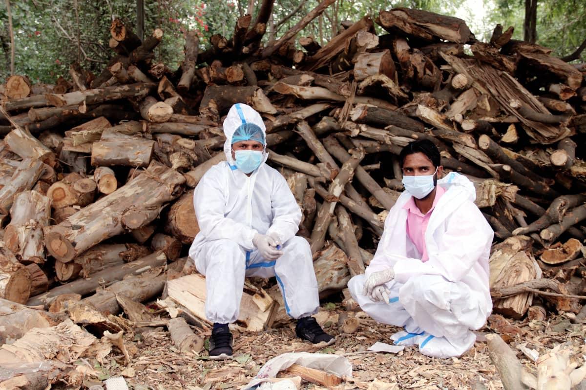 Ghaziabadin polttohautauspaikan polttopuut riittävät vielä, mutta eivät nykytahdilla pitkään.