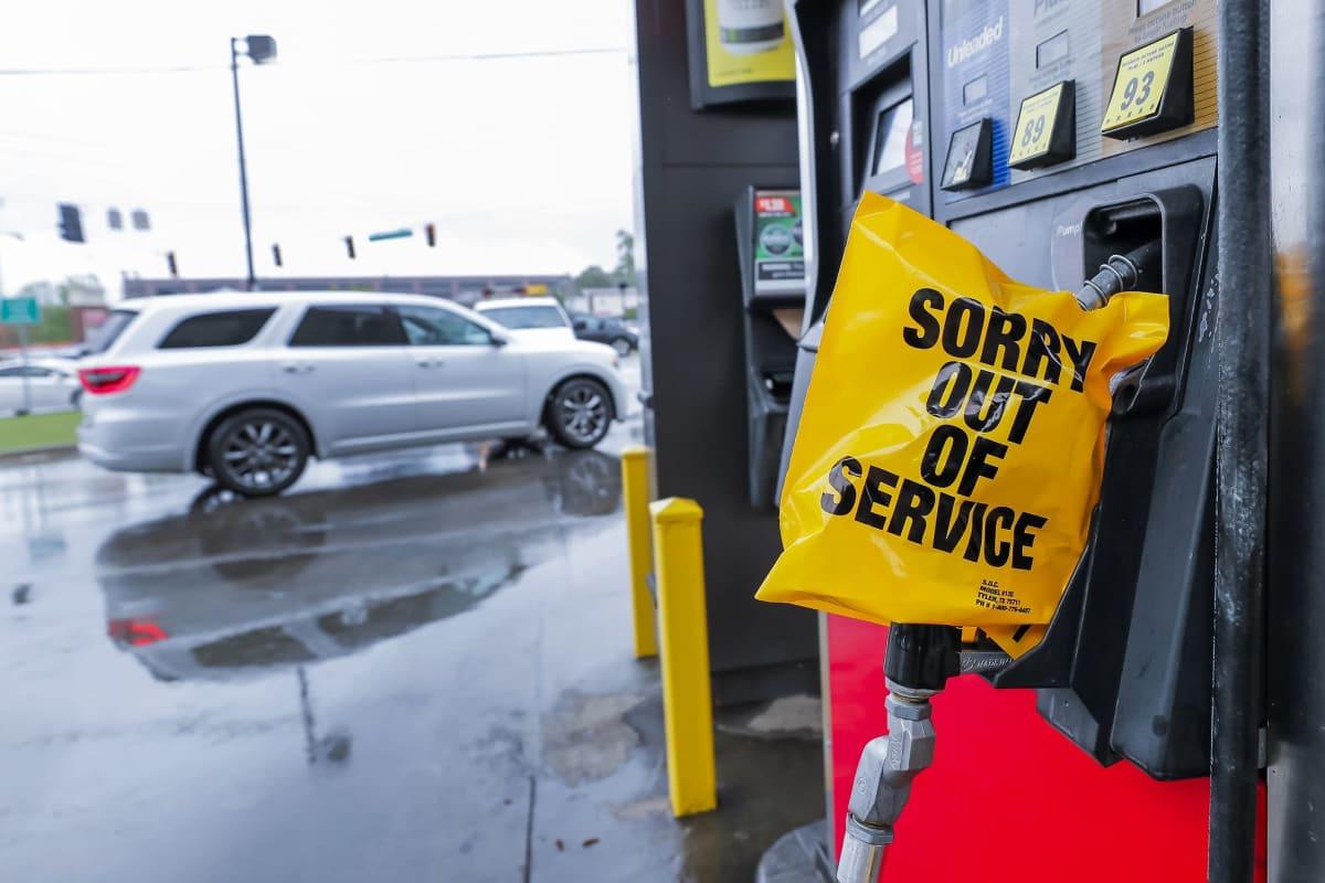 Atlantalaiselta huoltoasemalta loppui polttoaine Georgiassa.