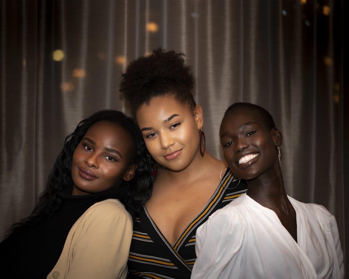 Clémence Habiyakare, Renée Böök ja Monica Tor.