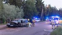 Viisi loukkaantui kahden auton kolarissa Haminassa
