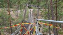 Kansallispuiston uuden riippusillan voi ylittää moottorikelkalla – vanha hajosi turistien alta