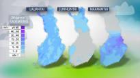 Lauantaina sataa koko maassa – myös navakkaa tuulta tiedossa