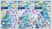 Kolat esiin: Jopa 30 senttiä lunta luvassa – saderintama toisensa perään vyöryy Suomen yli