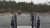 Морской патруль спас запутавшегося в сетях рыбака у побережья Коккола