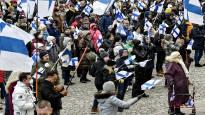Несколько сотен человек требовали отставки правительства и выхода Финляндии из Евросоюза - полиция напомнила о мерах безопасности