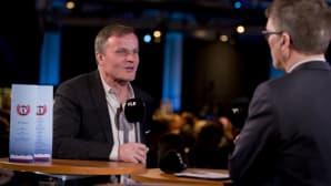 Maailmanmestari ja tallipäällikkö Tommi Mäkinen Arvo Vuorelan haastattelussa vuoden 2015 gaalassa.