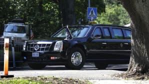Yhdysvaltain presidenttipari matkalla presidentinlinnaan 16. heinäkuuta.