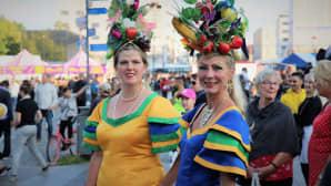 Samba Sistersin Marina Nykamb ja Soile Jansson