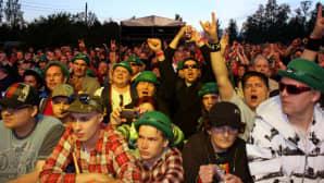 Riihimäki rockin yleisöä
