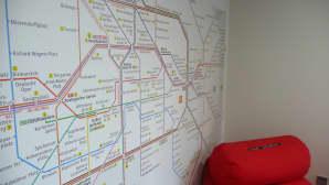 Metrokartta seinätapettina
