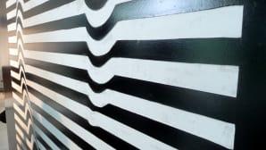 Kuvioitua seinää