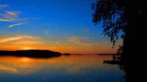 Auringonlasku Heinolassa