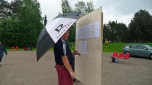 Sade ei estänyt TUL:n veteraanien petankin mestaruuskisoja Seinäjoen Uimahallin pihakentällä.