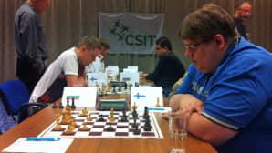 CSIT:n shakkimestaruusturnaus menossa Seinäjoen Cumuluksessa avajaispäivänä.